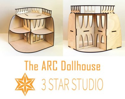 The ARC Dollhouse. Image used with permission by 3 Star Studio Arts.